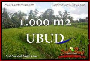 1,000 m2 LAND FOR SALE IN UBUD BALI TJUB653