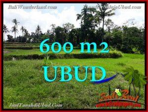 Exotic UBUD BALI 600 m2 LAND FOR SALE TJUB657