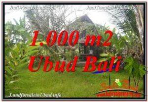 Beautiful SENTRAL UBUD BALI 1,000 m2 LAND FOR SALE TJUB680